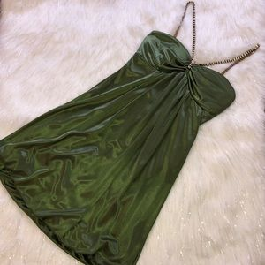 Green Silky Windsor Prom Dress